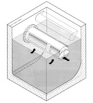 Obrázek - Regulační čistící přeliv - trubní FluidClari